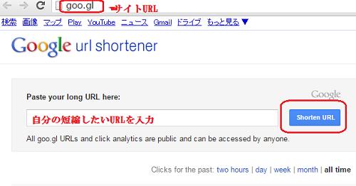 GoogleURL短縮ツール