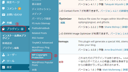 WP-Copyright-Protection設定方法