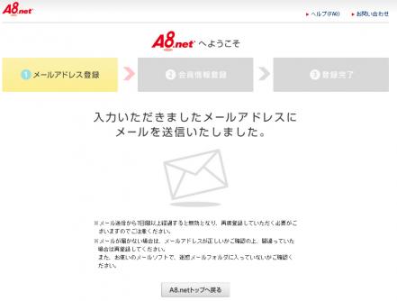 A8.net新規登録方法3