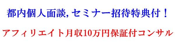 月収10万円保証付アフィリエイトコンサル